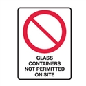 B.SITE SIGN GLASS CONTAIN.. 600X450 MTL