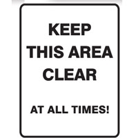 KEEP THIS AREA CLEAR AT ..300X450 MTL