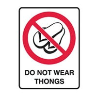DO NOT WEAR THONGS 300X225 POLY