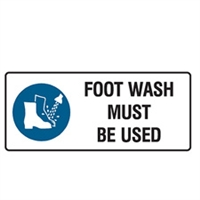 FOOT WASH MUST BE USED 125X300 SS