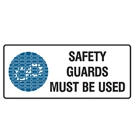 SAFETY GUARDS MUST BE USED 125X300 SS
