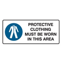 PROTECTIVE CLOTHING MUST BE.. 125X300 SS