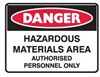 HAZARDOUS MATERIALS AREA AUTH..LBLS PK5