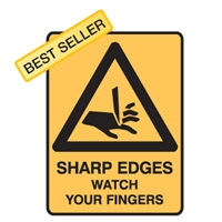 SHARP EDGES WATCH YOUR.. 450X300 MTL