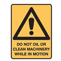 DO NOT OIL OR CLEAN MACH.. 300X225 POLY