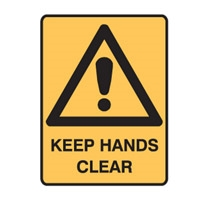 KEEP HANDS CLEAR 600X450 POLY