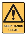 KEEP HANDS CLEAR 450X300 POLY