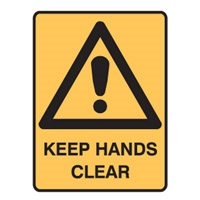 KEEP HANDS CLEAR LBLS PK5