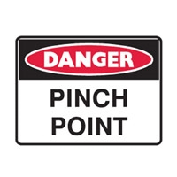 DANGER PINCH POINT 250X180 SS