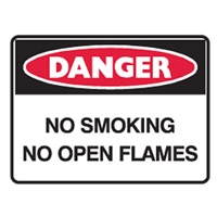 NO SMOKING NO OPEN FLAMES LBLS PK5