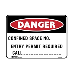 CONFINED SPACE NO. ENTRY.. 600X450 MTL