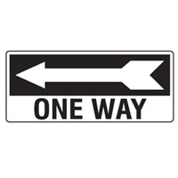 D.SIGN ONE WAY ARR/L 450X180 POLY