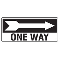 D.SIGN ONE WAY ARR/R 450X180 POLY