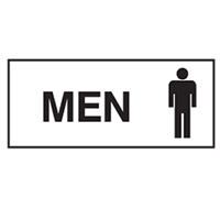 DOOR SIGN MEN 300X125 POLY