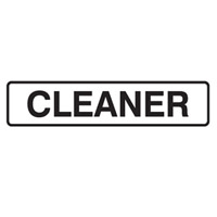 DOOR SIGN CLEANER 200X45 SS PK5