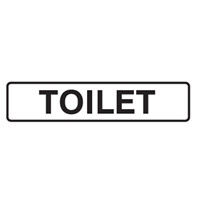 DOOR SIGN TOILET 200X45 SS PK5
