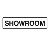 DOOR SIGN SHOWROOM 200X45 SS PK5