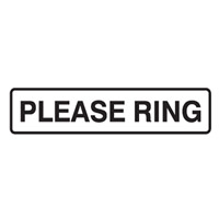 DOOR SIGN PLEASE RING 200X45 SS PK5