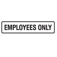DOOR SIGN EMPLOYEES ONLY 200X45 SS PK5