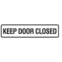 DOOR SIGN KEEP DOOR CLOSED 200X45 SS PK5