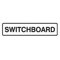 DOOR SIGN SWITCHBOARD 200X45 SS PK5