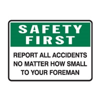 SAFETY FIRST REPORT ALL AC..300X450 POLY
