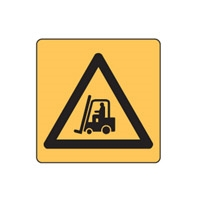 WARNING FOKLIFTS SYMBOL 100X100 SS