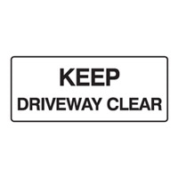 KEEP DRIVEWAY CLEAR 450X180 POLY
