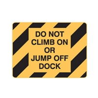DO NOT CLIMB OR JUMP OFF..450X300 POLY