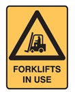 FORKLIFTS IN USE 300X225 POLY