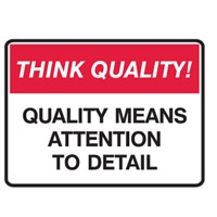 THINK QUALITY QUALITY MEANS ATT.. POLY