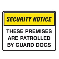 SECURITY SIGN THESE PREMIS..450X300 POLY