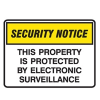 SECURITY SIGN THIS PROPERT..450X300 POLY