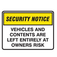 SECURITY SIGN VEHICLES AND..450X300 POLY