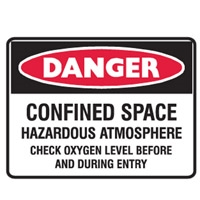 CONFINED SPACE HAZARDOUS.. 300X225 MTL