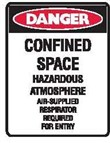 CONFINED SPACE HAZARDOUS.. 225X300 MTL