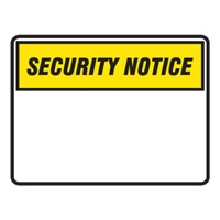 BLANK SIGN PANEL SECURITY.. 600X450 POLY