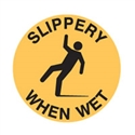 FLOOR SIGN SLIPPERY WHEN WET