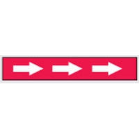 AISLE MARKING TAPE B-950 RED/WHT 75MM