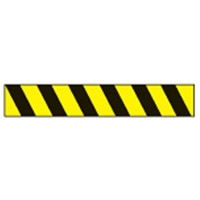 AISLE MARKING TAPE B-950 BLK/YEL 75MM