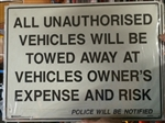 ALL UNAUTHORISED VEHICLES.. 450X600 MTL