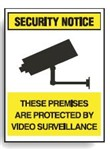 SURV SIGN THESE PREMISES ARE PROT.. POLY