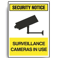 SURV SIGN SURVEILLANCE CAMERAS.. POLY