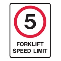 5 FORKLIFT SPEED LIMIT 225X300 POLY