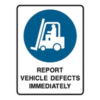 REPORT VEHICLE DEFECT..225X300 POLY