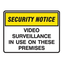 SURV SIGN VIDEO SURVEILLANCE IN USE.POLY