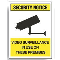 SURV SIGN VIDEO SURVEILLANCE IN USE..MTL