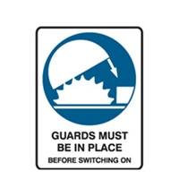 GUARDS MUST BE IN PLACE.. 300X225 MTL