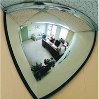 QUARTER DOME MIRROR CORNER MOUNT 457MM