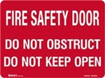 Fire Safety Door H225xW300mm Polypropylene Sign